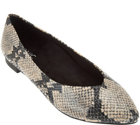 Vionic Orthotic Pointed Toe Snake Flats - Caballo