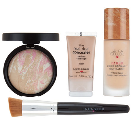 Laura Geller Foundation Wardrobe 4 pc Complexion Collection
