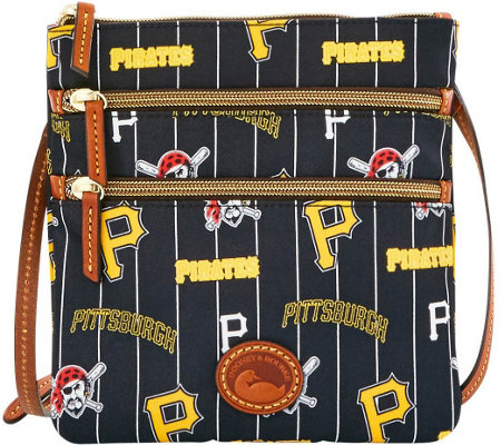 Dooney & Bourke MLB Nylon Pirates Triple Zip Crossbody