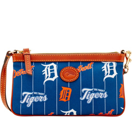 Dooney & Bourke MLB Nylon Tigers Large Slim Wristlet