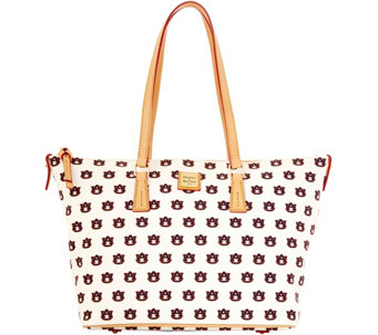 Dooney & Bourke NCAA Auburn University Zip Top Shopper - A283237