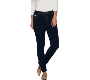 Quacker Factory DreamJeannes 5 Pocket Knit Denim Jeggings - A284437
