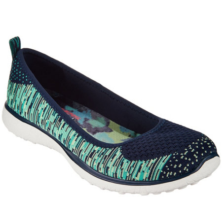 Skechers Microburst Flat Knit Skimmers - Perfect Note