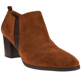 """As Is"" Franco Sarto Leather or Suede Ankle Boots - Banner - A293037"