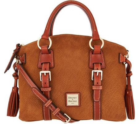 Dooney & Bourke Nubuck Bristol Satchel Handbag - Page 1 — QVC.com