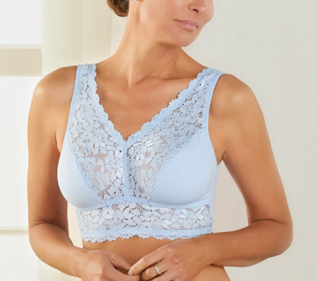 Breezies Set of Two Soft Support Lace Bras