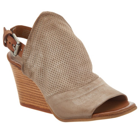 Miz Mooz Leather Wedge Sandals - Kona