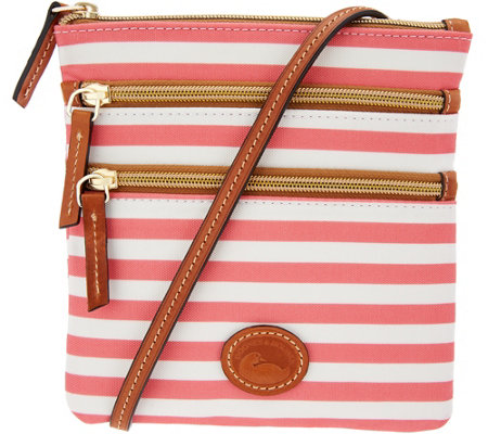 Dooney & Bourke Nylon North/South Triple Zip Crossbody Bag