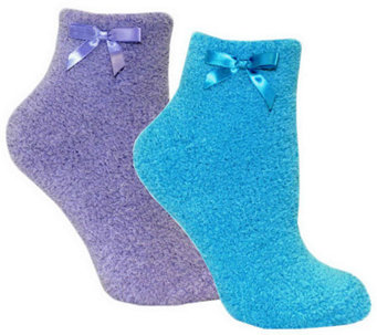 MUK LUKS Women's Chenille Slipper Sock 2 Pair P ack - A331037