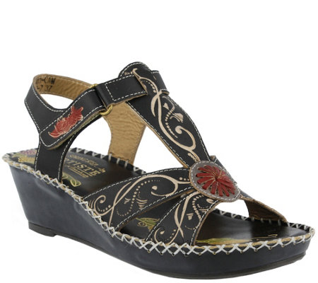 Spring Step L'Artiste Leather Sandals - Dinora