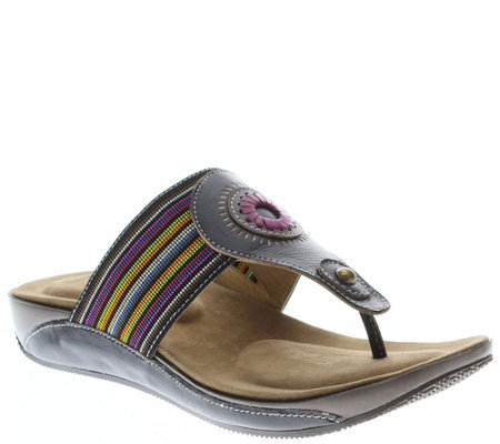 Spring Step L'Artiste Leather Slide Sandals - Chuckles
