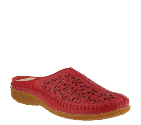 Spring Step Leather Clogs - Parre