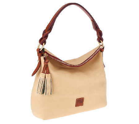 Dooney & Bourke Florentine Leather Twist Strap Hobo Bag
