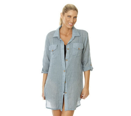 Ocean Dream Signature Safari Shirt Cover Up By Dotti