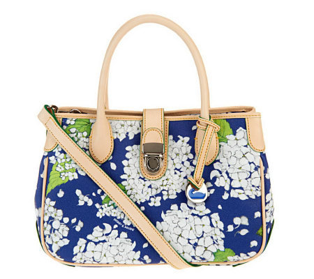 Dooney & Bourke Coated Cotton Hydrangea Print Double Handle Tote