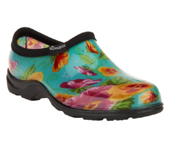 Sloggers Waterproof Pansy Garden Shoes w/ Comfort Insoles - A252738