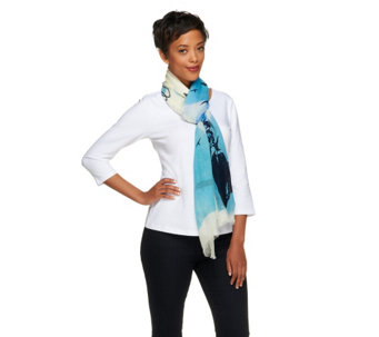 Collection 18 Fly Printed Scarf - A255538