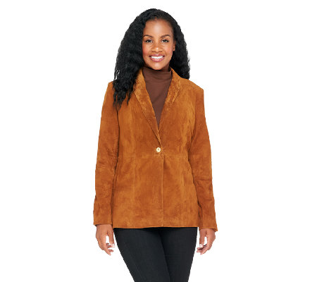 Liz Claiborne New York Fully Lined Suede Blazer