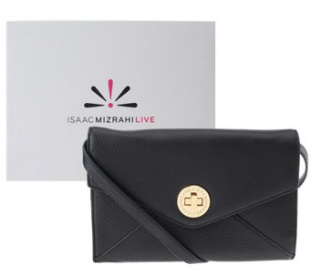 """As Is"" Isaac Mizrahi Live! Bridgehampton Leather Wallet - A256538"