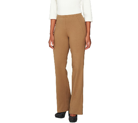 Women with Control Regular Boot Cut Pants with Side Seam