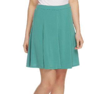 """As Is"" Susan Graver Liquid Knit 8 Gore Pull-On Skort - A259338"