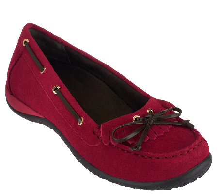 Vionic w/ Orthaheel Orthotic Suede Slip-on Loafers - Petaluma