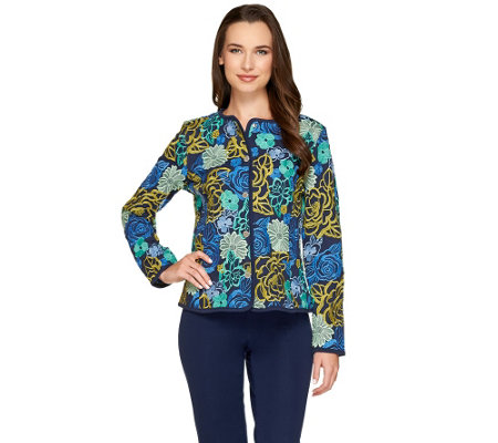 Isaac Mizrahi Live! Special Edition Embroidered Floral Jacket