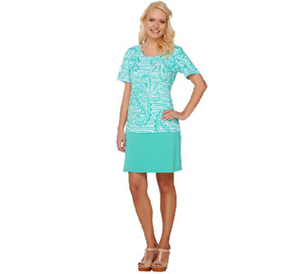 Denim & Co. Active/Golf Paisley Print Top & Skort Set - A263638