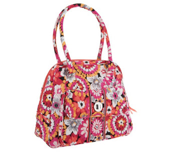 Vera Bradley Signature Print Turn Lock Satchel - A265438