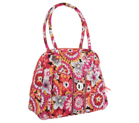 Vera Bradley Signature Print Turn Lock Satchel