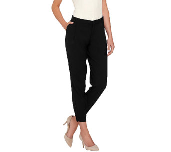 G.I.L.I. Twill Zip Front Pants with Banded Bottoms - A266638