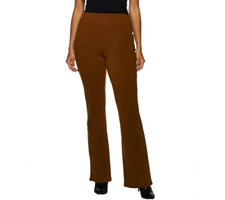 Liz Claiborne New York Regular Pull-On Boot Cut Ponte Knit Pants