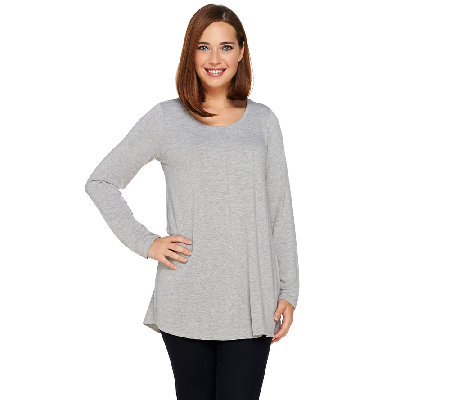 Attitudes by Renee Long Sleeve Cashknit Tunic with Front Seam