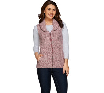 Liz Claiborne New York Heritage Zip Front Sweater Vest - A271238