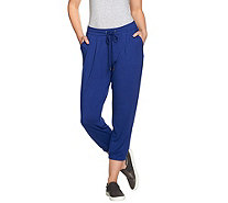H by Halston Knit Drawstring Pull-On Crop Jogger Pants - A272438
