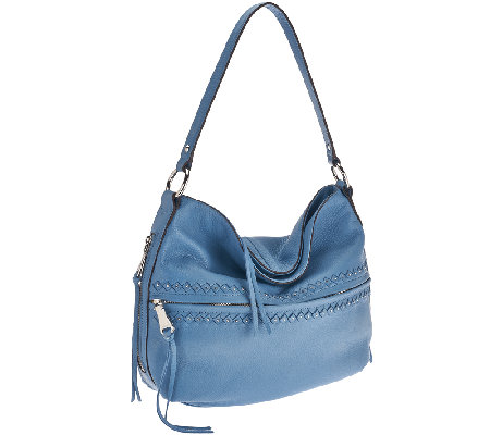 """As Is"" Aimee Kestenberg Kelsy Pebbled Leather Hobo"