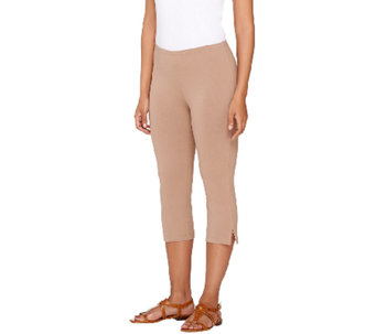 """As Is"" Susan Graver Weekend Cotton Spandex Pedal Pusher Leggings - A274838"