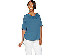H by Halston Cowl Neck Relaxed Top - A277938
