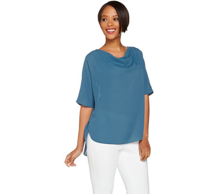 H by Halston Cowl Neck Relaxed Top