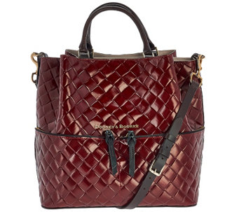 """As Is"" Dooney & Bourke Large Woven Embossed Dawson Satchel - A279038"