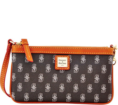 Dooney & Bourke MLB Mariners Large Slim Wristlet