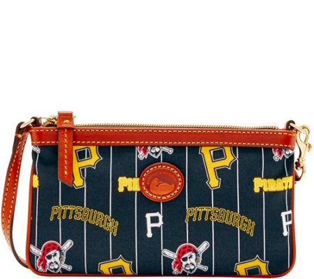 Dooney & Bourke MLB Nylon Pirates Large Slim Wristlet