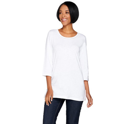 C. Wonder Essentials Slub Knit 3/4 Sleeve Top