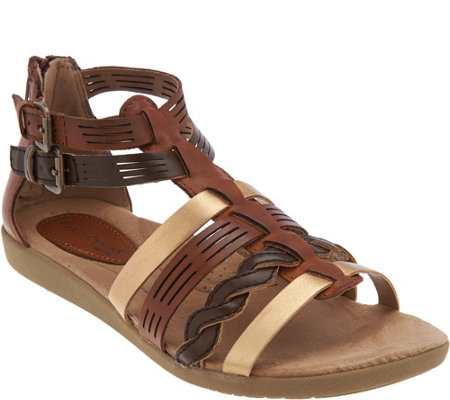 Earth Origins Leather Multi-Strap Sandals - Nicole