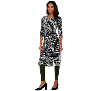 """As Is"" Women with Control Petite Printed Duster & Ankle Leggings Set - A291038"
