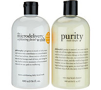 philosophy exfoliating wash & purity cleanser duo - A291138