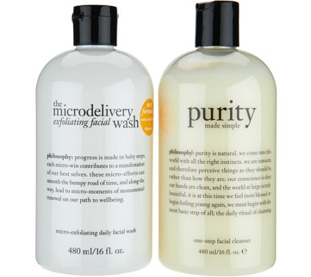 philosophy exfoliating wash & purity cleanser duo