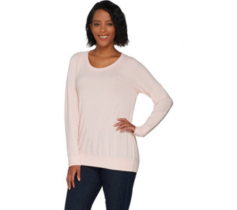 H by Halston Scoop Neck French Terry Sweatshirt - A300838