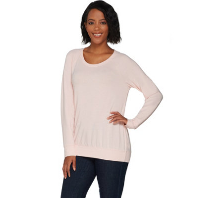 H by Halston Scoop Neck French Terry Sweatshirt