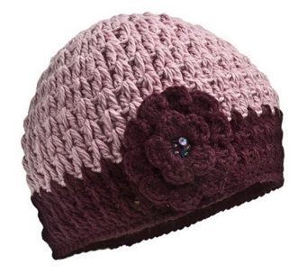 Nirvanna Designs Women's Crochet Flower Hat - A322738